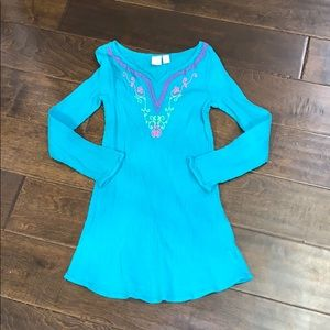 Beautiful Boho embroidered Turquoise Cover-up